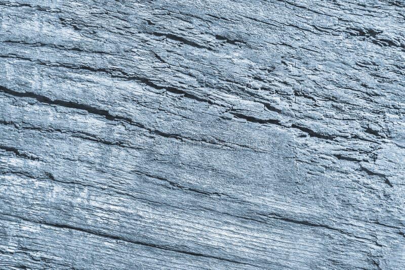Stary Wietrzejący Powyginany Krakingowy Drewniany Szorstki Prochowego błękita Grunge tekstury szczegół zdjęcie stock