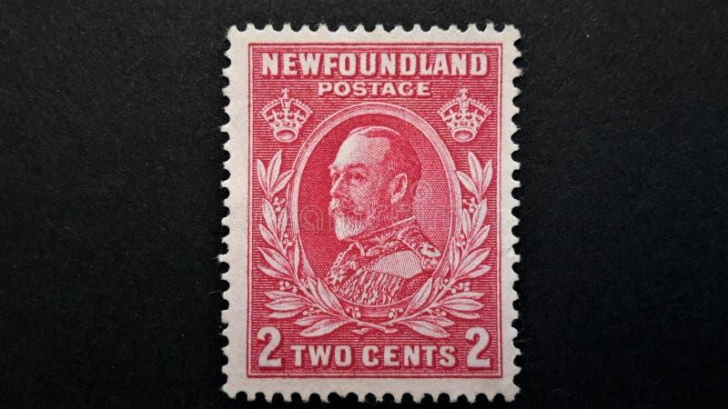Stary wodołazu znaczek pocztowy george królewiątko v zdjęcia stock