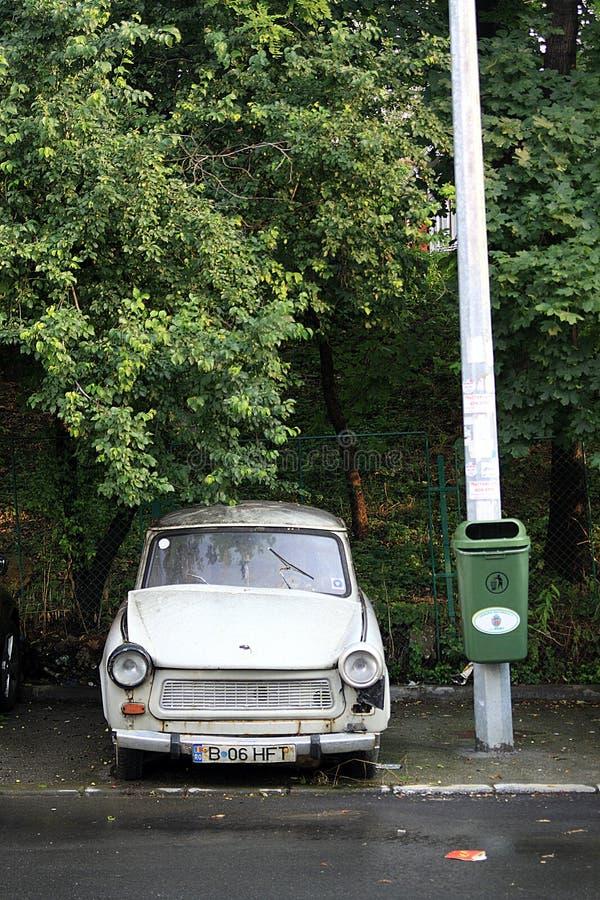 Stary Wschodni - europejski samochodowy Trabant fotografia royalty free