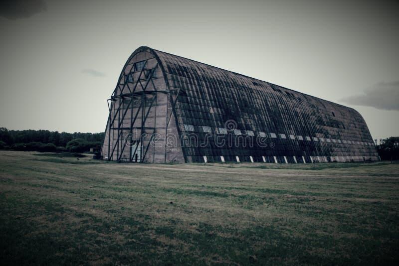 Stary WW1 sterowa hangar obrazy stock