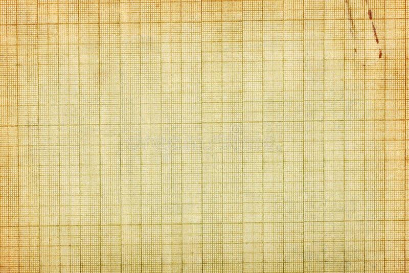 Stary wykresu papieru tło zdjęcie stock