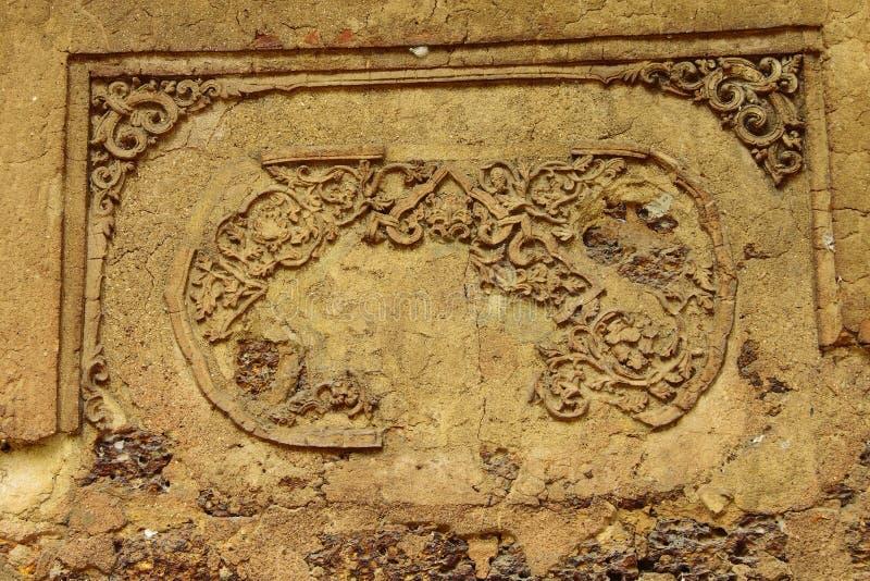 Stary wzór na ścianie obraz stock