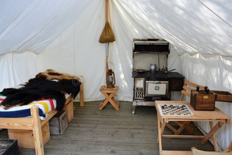 Stary Zachodni Prospector, handlowa namiot/ fotografia stock
