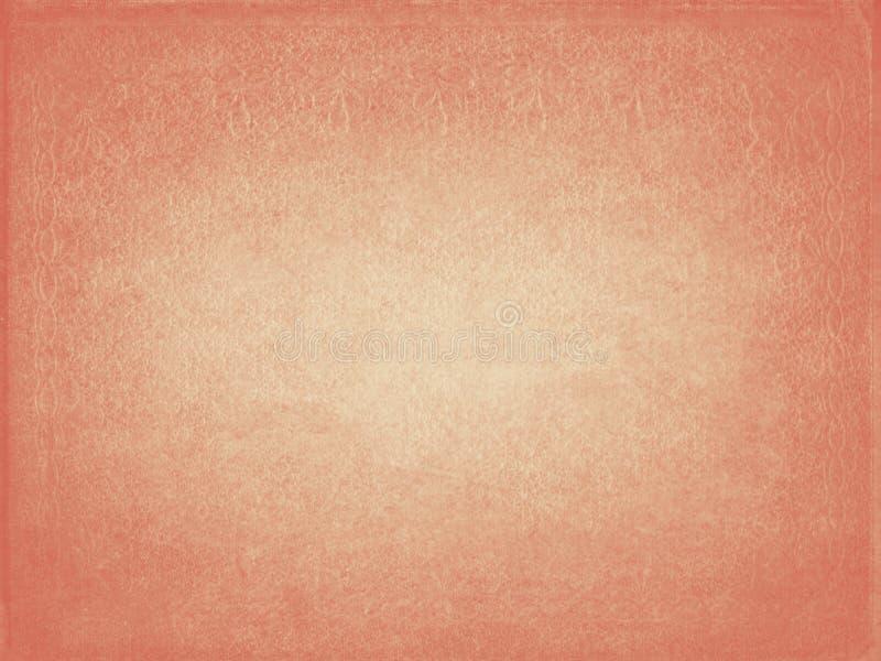 Stary zakłopotany pomarańcz menchii papieru tekstury tło royalty ilustracja