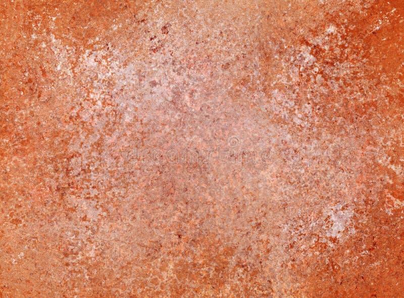 Stary zakłopotany pomarańczowej czerwieni, bielu tło z cement teksturą w rocznika projekcie i ilustracji