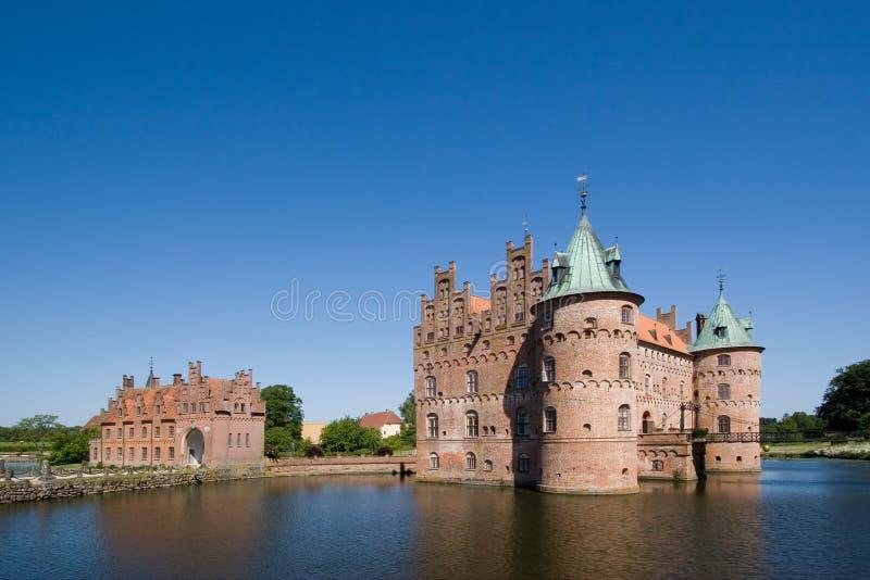 stary zamek egeskov Funen zdjęcie royalty free