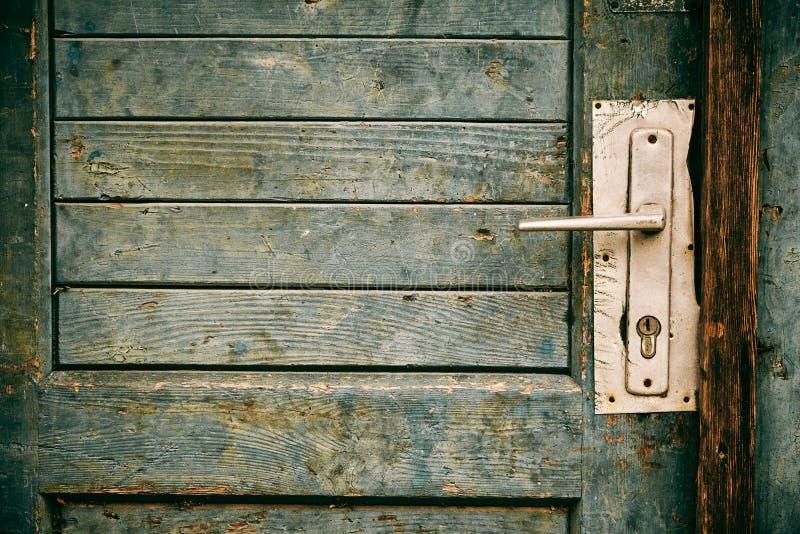Stary zamknięty drzwi obraz stock