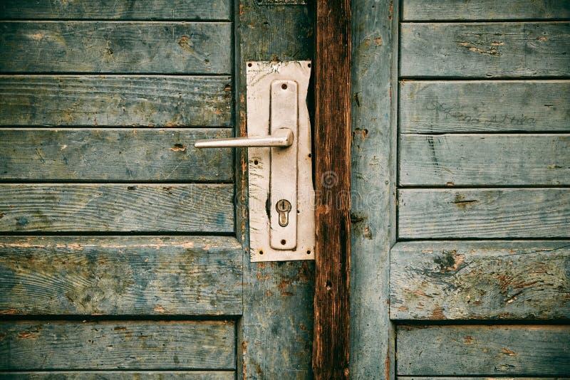Stary zamknięty drzwi zdjęcia royalty free