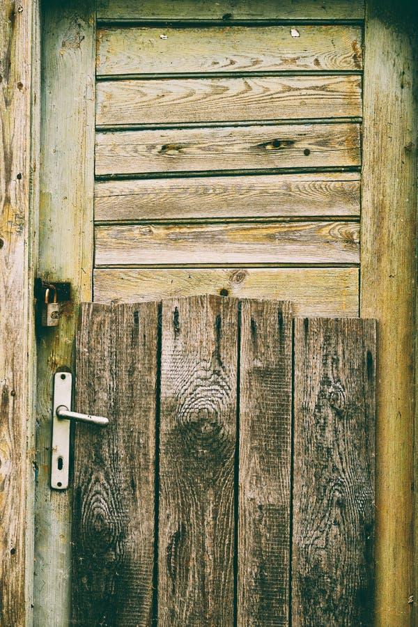 Stary zamknięty drzwi obrazy royalty free