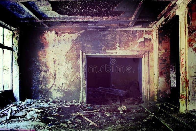 Stary zaniechany budynek fotografia stock