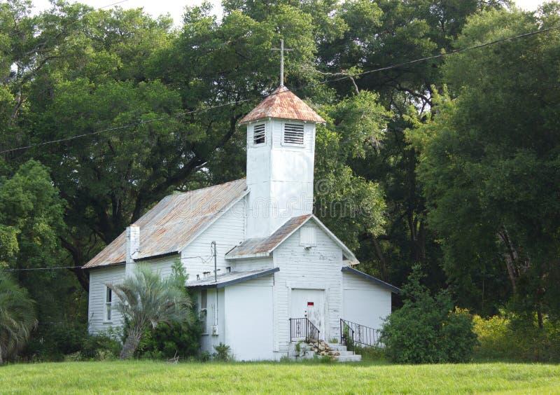 Stary zaniechany kościół w górze Dora, Floryda obraz royalty free