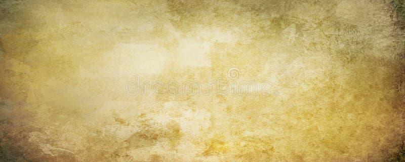 Stary zatarty sztandaru pergamin w brown beżowych sepiowych brzmieniach royalty ilustracja
