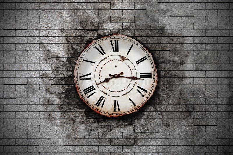 Download Stary zegar ilustracji. Ilustracja złożonej z grunge - 53783707