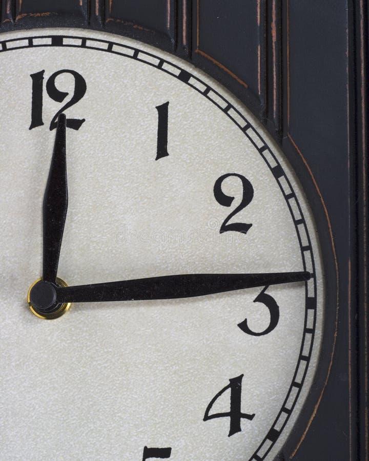 stary zegar częściowe drewna obraz stock