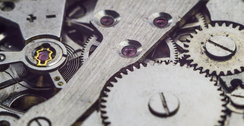 stary zegar mechanizmu fotografia stock