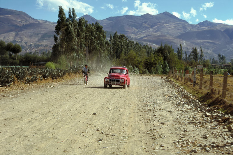stary zegar mieście cajamarca Peru obrazy royalty free