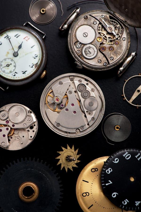 stary zegar Odgórny widok zdjęcie stock
