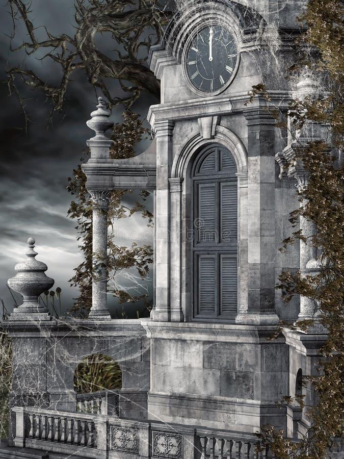 Stary zegarowy wierza royalty ilustracja