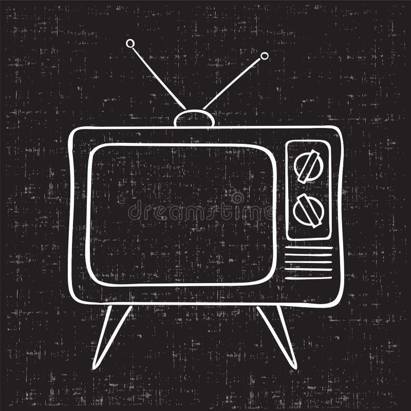 stary zestaw tv ilustracja wektor