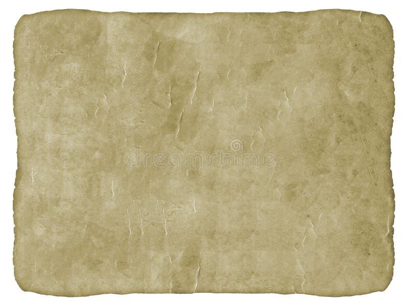 Stary papier w Białym tle. obraz royalty free