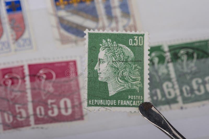 Stary znaczek Francja fotografia stock