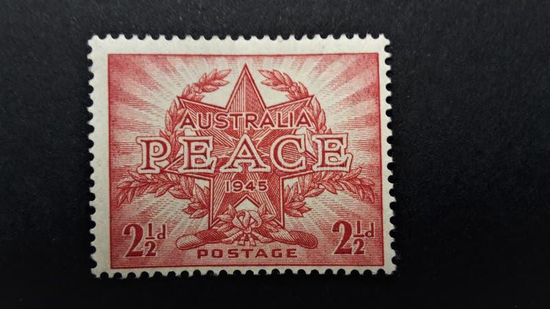 Stary znaczka pocztowego Australia pokój fotografia stock