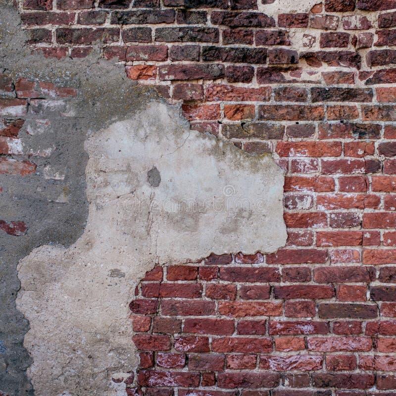 Starych ściana z cegieł zamknięty up zdjęcie royalty free