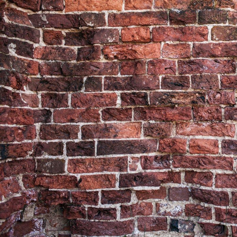 Starych ściana z cegieł zamknięty up zdjęcia royalty free