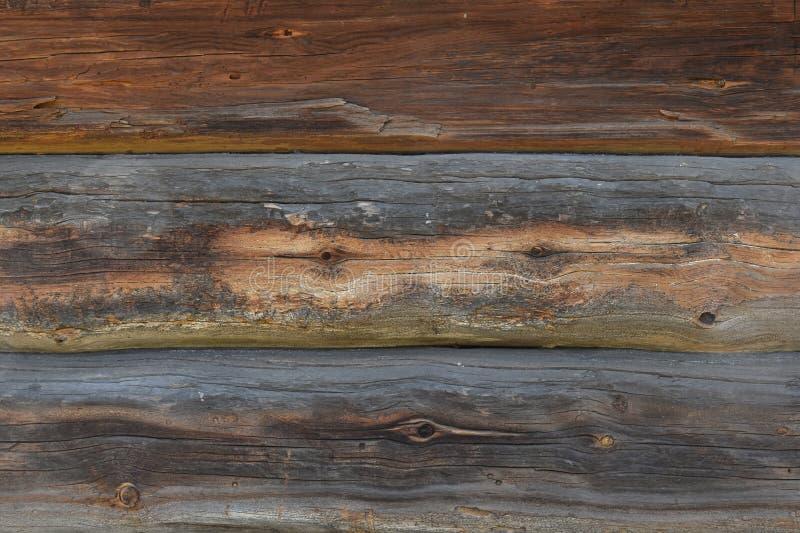 Starych antykwarskich unpainted drewnianych bel ścienna tekstura zdjęcie stock