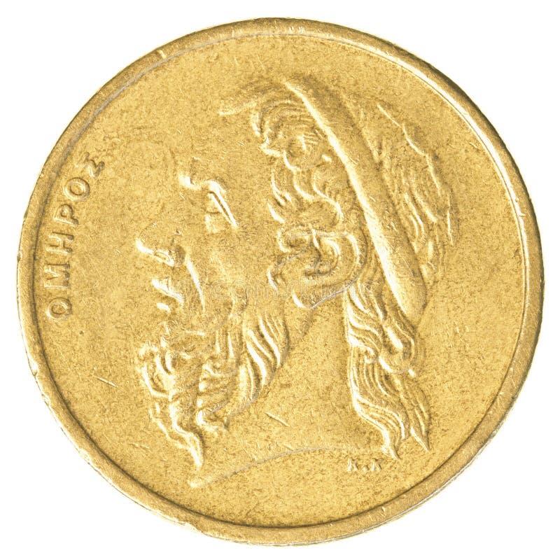 50 starych Greckich drachm monet zdjęcia stock
