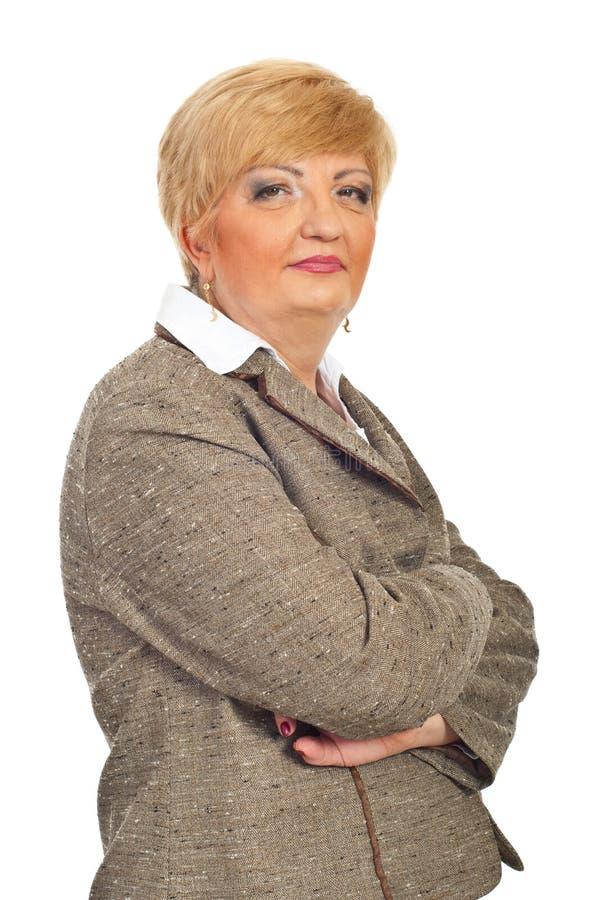 starzejąca się piękna biznesowa środkowa kobieta zdjęcia stock