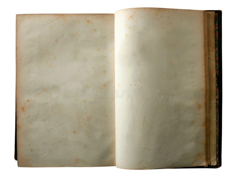 starzejąca się pustego miejsca książki kopii stara otwarta przestrzeń obrazy stock