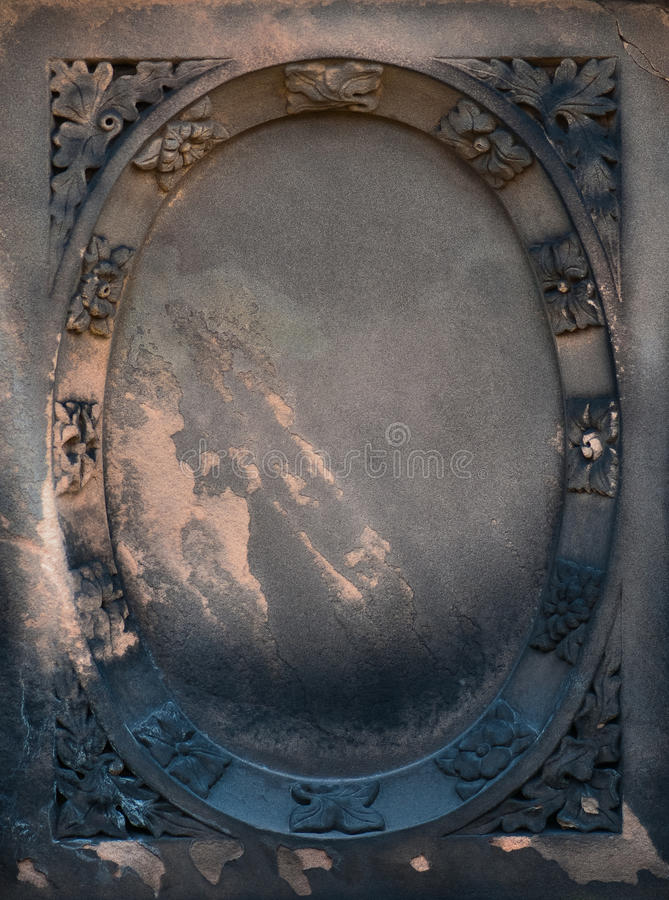 Wiktoriańska gravestone rama fotografia royalty free