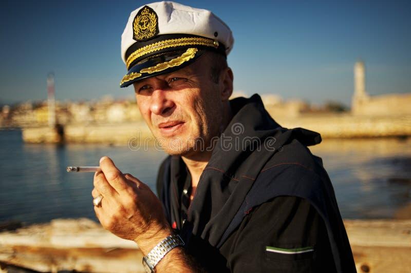 starzejący się środkowy żeglarz zdjęcia stock