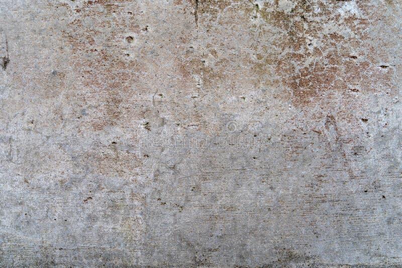 Starzejący się beton z czerwienią deseniuje i pęka - wysokiej jakości teksturę/tło obraz stock