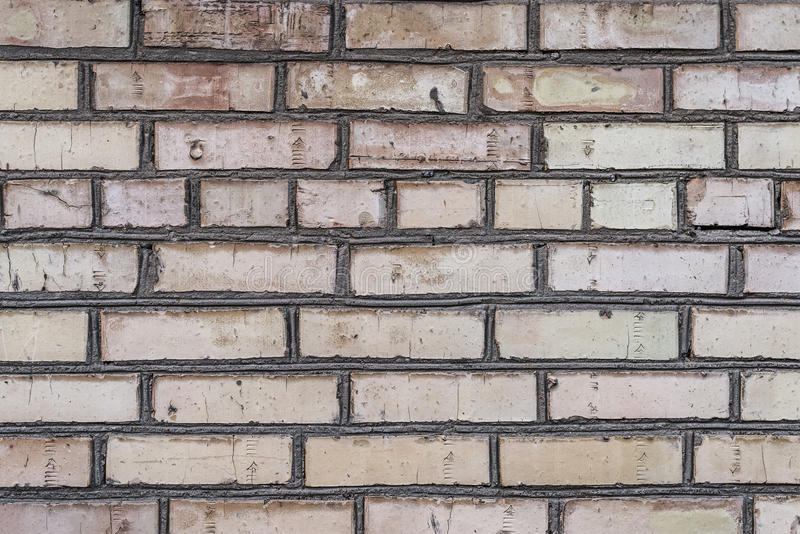 Starzejący się grunge ściana z cegieł fotografia royalty free