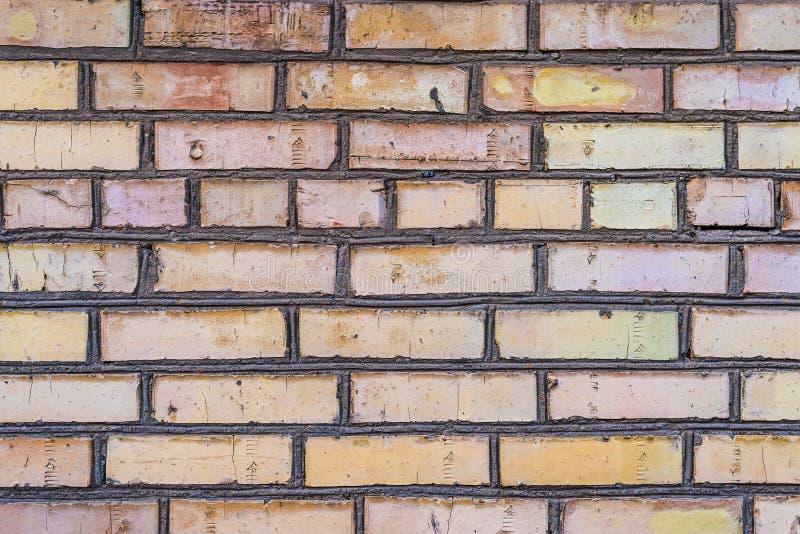 Starzejący się grunge ściana z cegieł zdjęcie royalty free