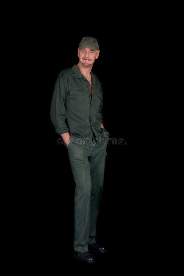 starzejący się mężczyzna środka żołnierz fotografia stock