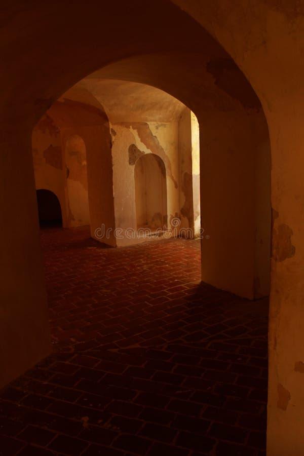 Starzejący się sala widok Manora fort zdjęcia stock