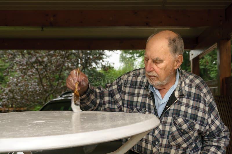 Starzejący się starszego mężczyzna obraz zdjęcie stock