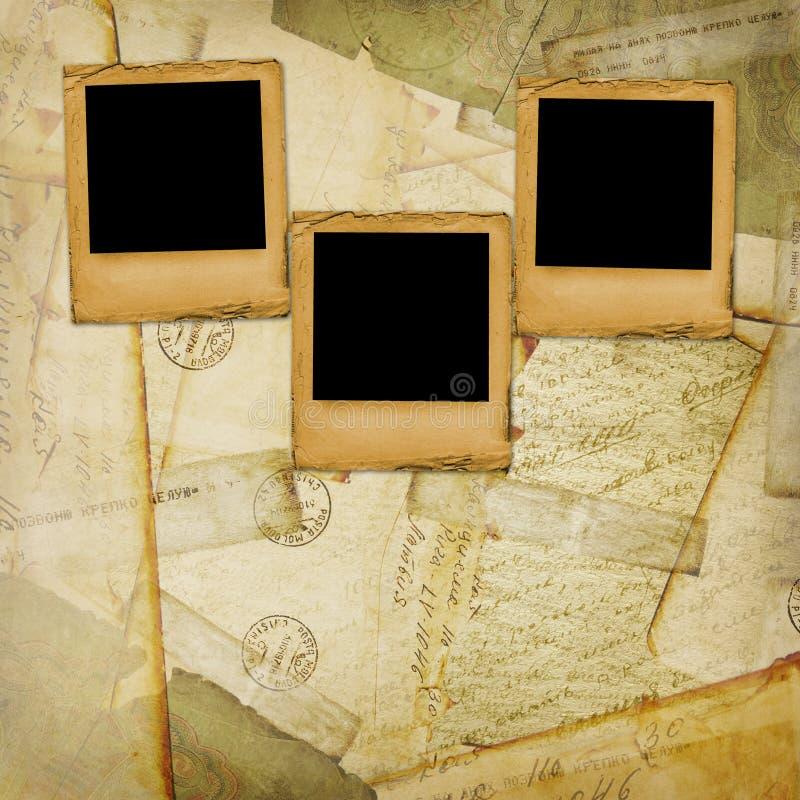 starzejący się tło odkrywa starego pocztówkowego rocznika zdjęcie stock