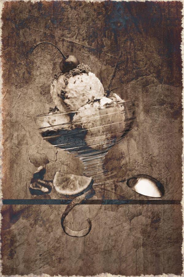 starzenie się śmietanka zdjęcie lodu. zdjęcie stock