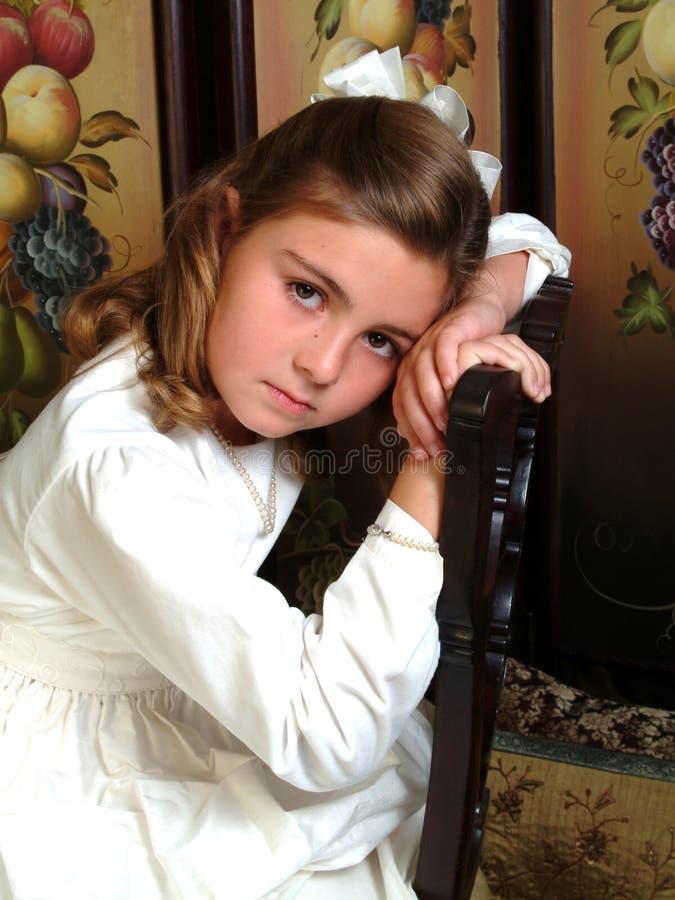 starzenie się dziewczyny smutna szkoły zdjęcie stock
