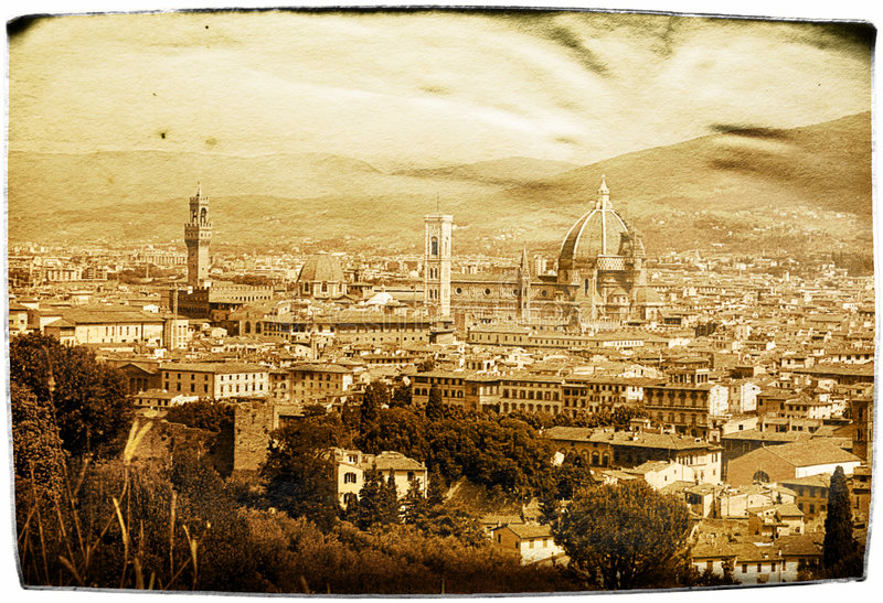 starzenie się Florence kartkę obrazy stock
