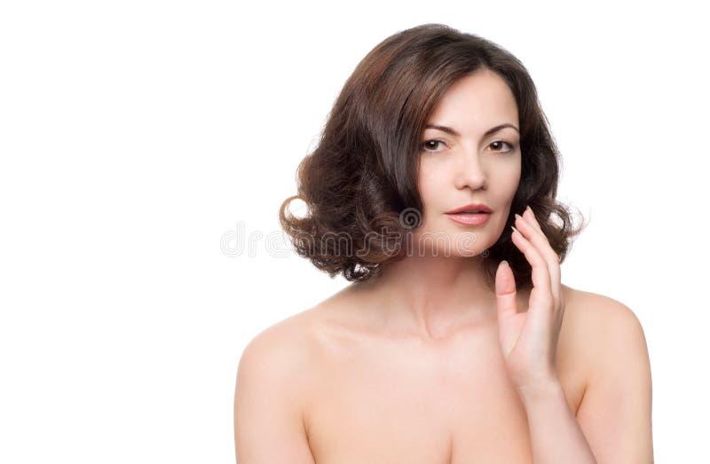 starzenie się piękna kobieta centralna fotografia stock