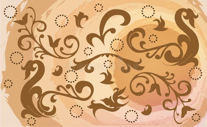 starzenie się tapeta ilustracja wektor