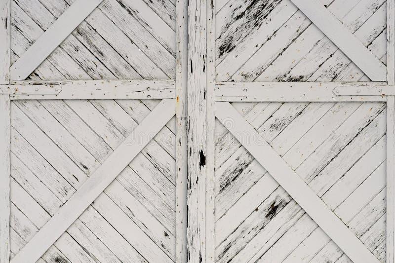 Starzy Biali Drewniani drzwi obraz royalty free