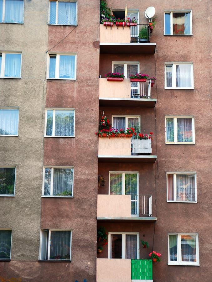 starzy blokowi mieszkania zdjęcie stock