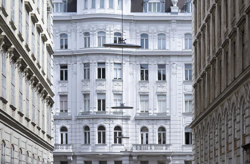 Starzy budynki mieszkalni fasadowi zdjęcia stock
