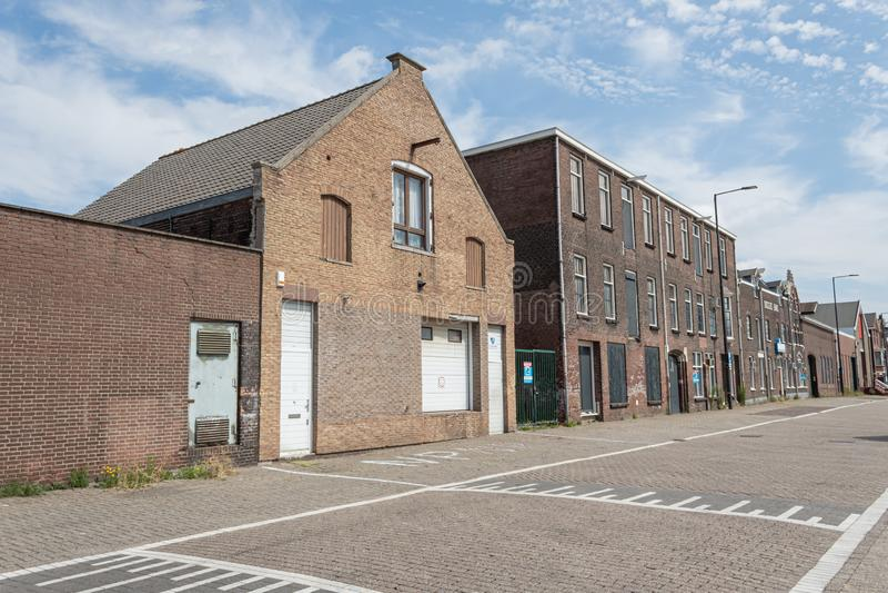Starzy budynki od za Vlaardingen & x28 w; Holland& x29; obraz stock